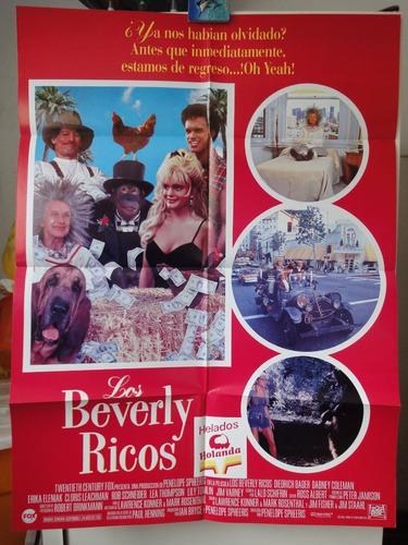 poster los beverly ricos diedrich bader erika eleniak 1993