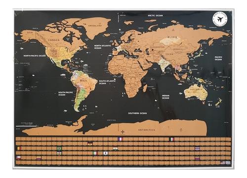 poster mapa raspadinha mapa mundi de raspar bandeiras