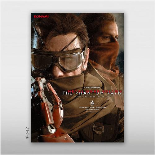 poster metal gear solid 5 khw 70x50cm game jogos phantom