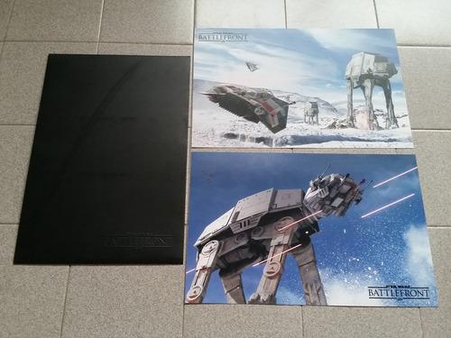 póster metálico de star wars battlefront de 43x28cm apróx.