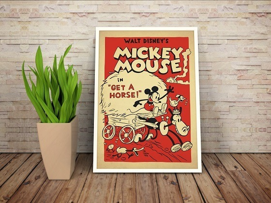 Poster Mickey Mouse Vintage Cine Dibujos Disney - S/ 38,00 en ...