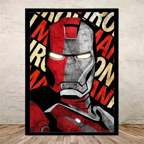 1d7cd2afad Poster Moldura Quadro Homem De Ferro Vingadores-m3- 42x30cm - R  44 ...