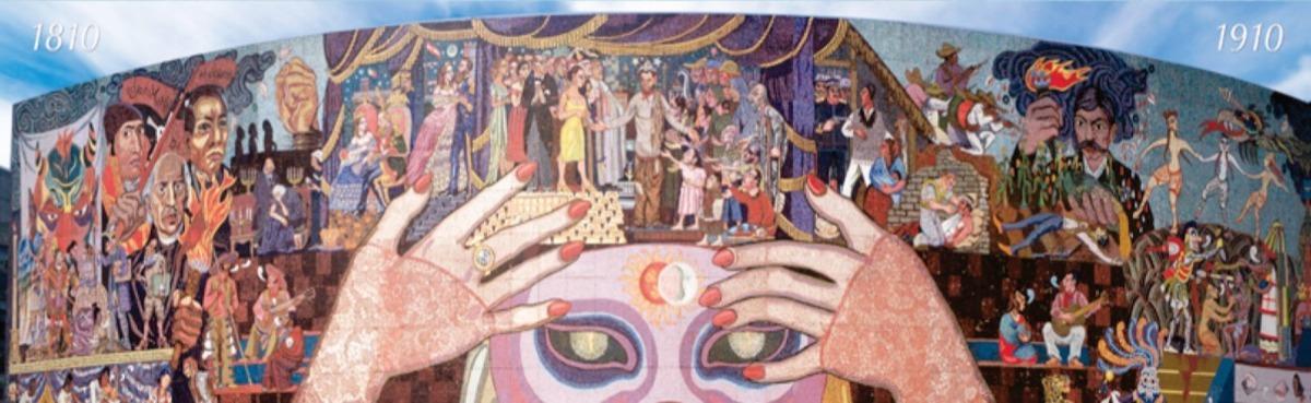 Poster Mural Historia Del Teatro En Mexico Por Diego Rivera