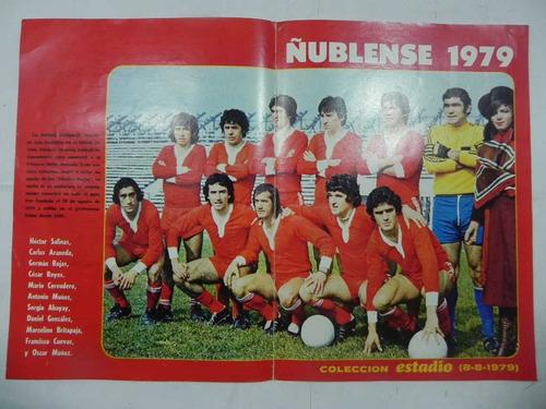 poster ñublense 1979 revista estadio