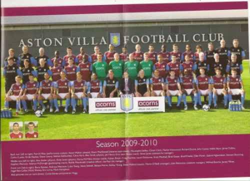 poster oficial aston villa liga premier inglaterra