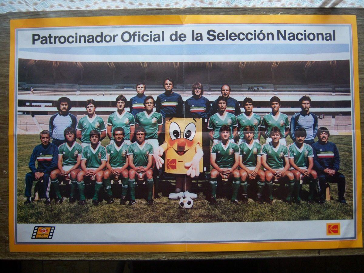 1aae5d6c5a6c6 poster oficial de la selección mexicana de fútbol 1986 kodak. Cargando zoom.
