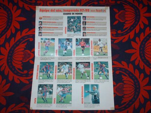 poster once ideal liga española 97-98 don balon