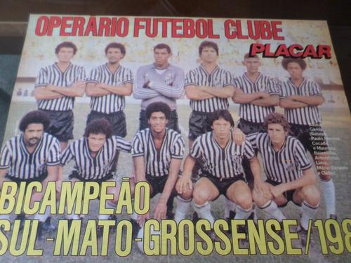 poster operário campeão mato grosso sul 1980 placar 21x27cm