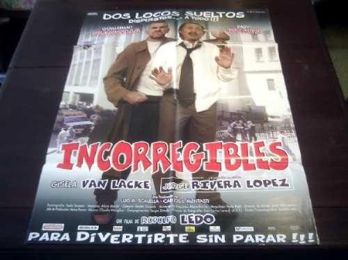 poster original argentino incorregibles guillermo francella
