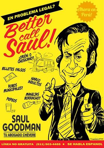 poster original better call saul  - breaking bad tamaño a3