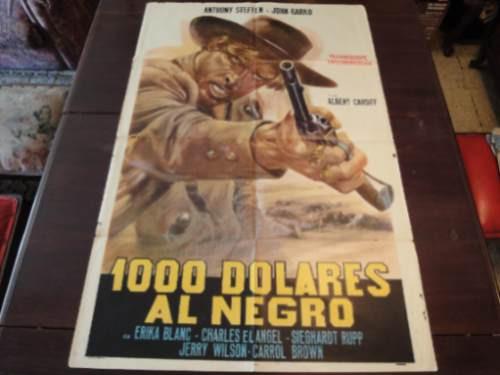 poster original blood at sundown mille dollari sul nero 1966