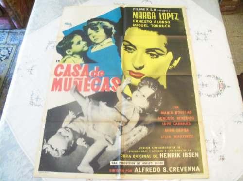 poster original casa de muñecas marga lopez joseph renau '54