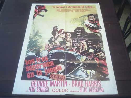 poster original che fanno i nostri supermen sal borgese 1970