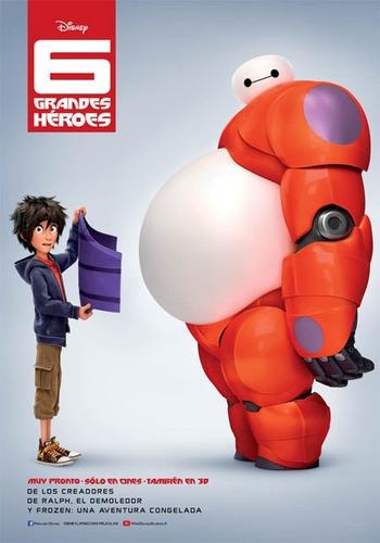 poster original cine 6 grandes heroes ( baymax )