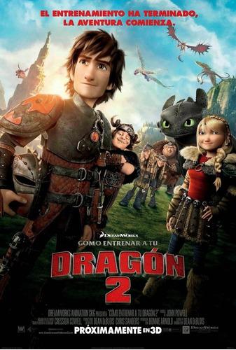 poster original cine cómo entrenar a tu dragón 2