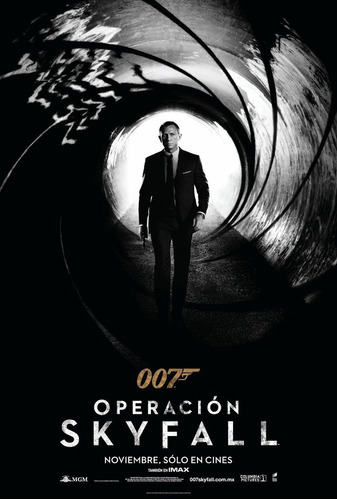 poster original cine james bond 007 - operación skyfall (mot