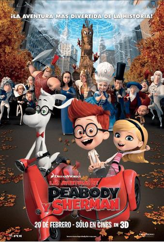 poster original cine las aventuras de peabody y sherman