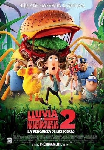 poster original cine lluvia de hamburguesas 2: la venganza d