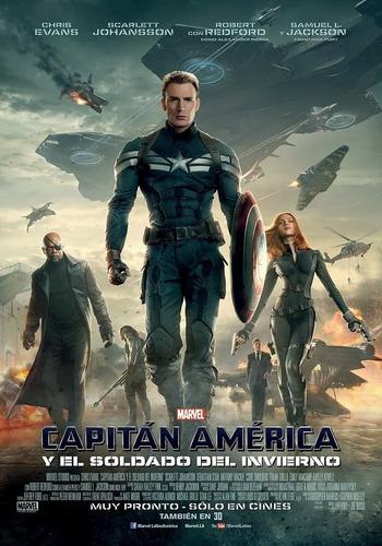 poster original cine marvel capitán américa y el soldado (2)