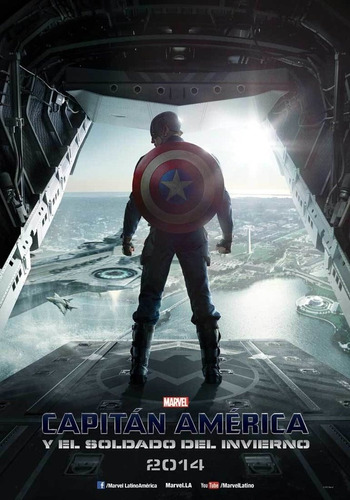 poster original cine marvel capitán américa y el soldado de