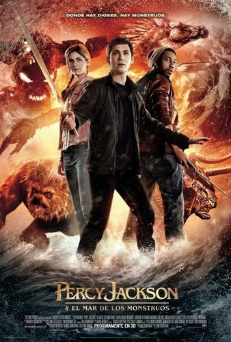 poster original cine percy jackson y el mar de los monstruos