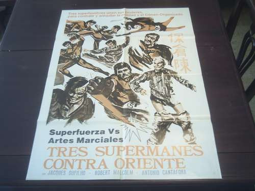 poster original crash che botte supermen against the orient