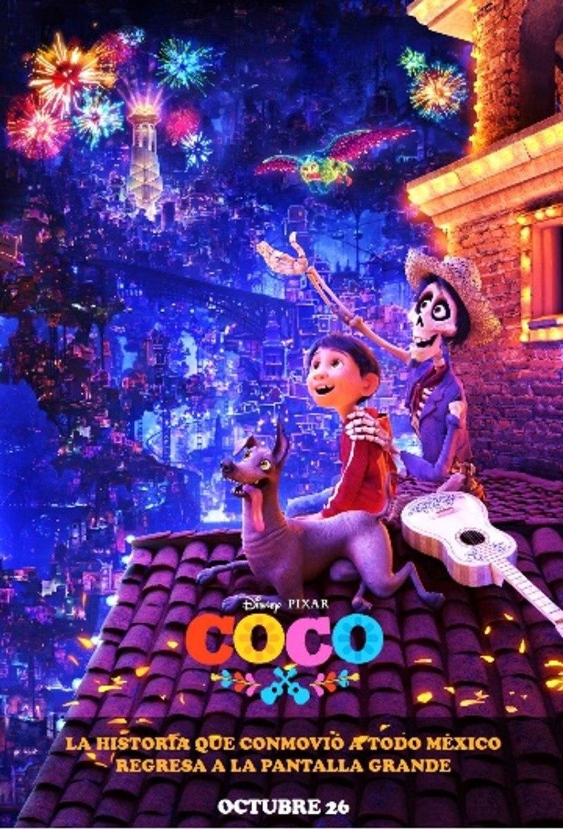 Poster Original De Cine Coco Cartel Co Co Disney Pixar