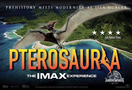 poster original de cine jurassic world