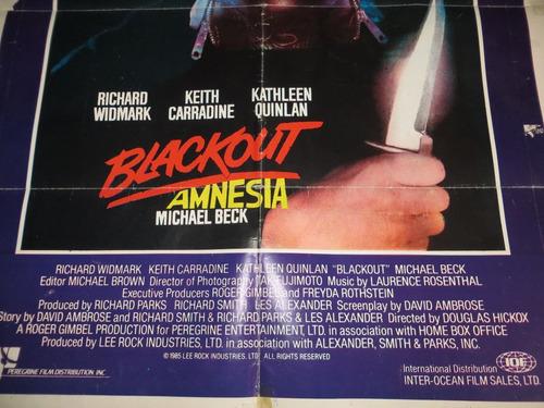 poster original de la pelicula  blackout