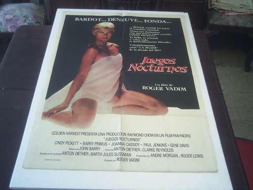 poster original juegos nocturnos night games cindy pickett