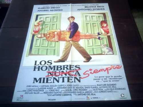 poster original los hombres siempre mienten gabino diego '95