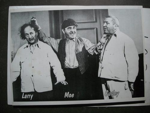 poster original los tres chiflados larry moe curly