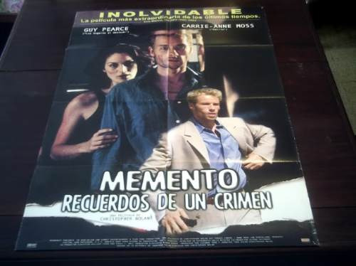 poster original memento amnesia guy pierce christopher nolan