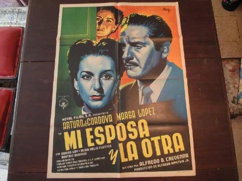 poster original mi esposa y la otra a de córdova marga lópez