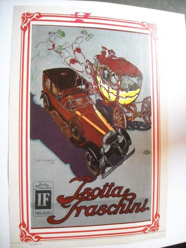 poster original publicidad auto isotta fraschini