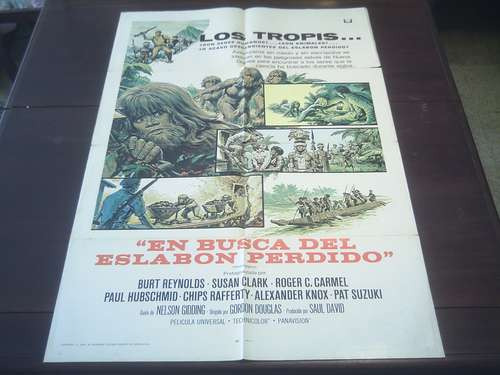 poster original skullduggery burt reynolds gordon douglas 70