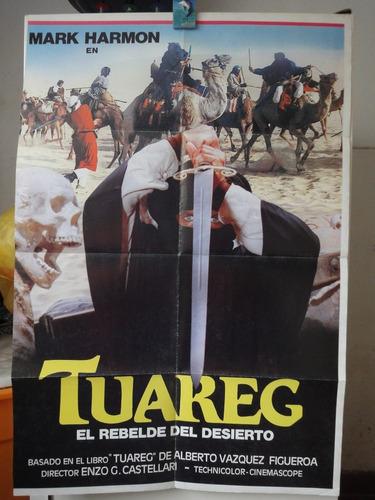 poster original tuareg el rebelde del desierto mark harmon
