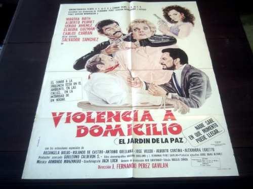 poster original violencia a domicilio martha roth a. pedret