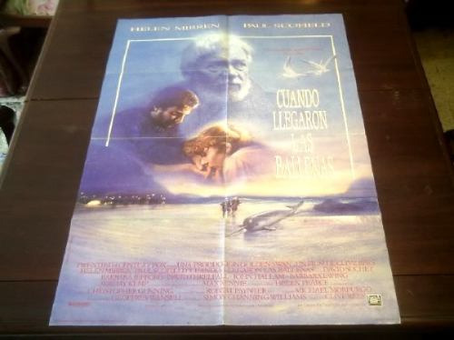 poster original when the whales came helen mirren c rees '89