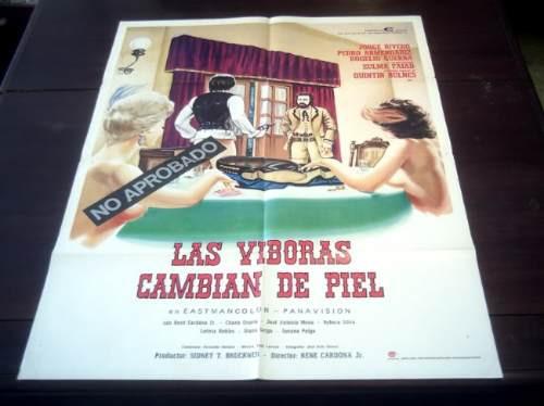 poster orignal las viboras cambian de piel jorge rivero 1974