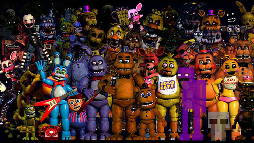 poster painel, fnaf five nights at freddy's  personalizamos
