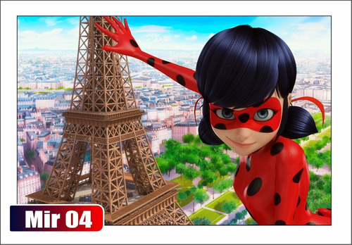 poster painel, ladybug personalizamos 120x60