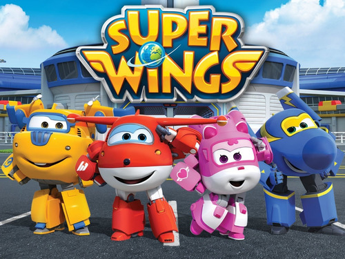 poster painel super wings 100x60cm personalizamos nome festa