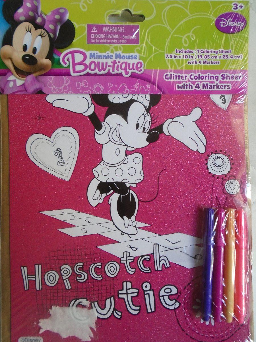 Poster Para Pintar De Minnie Con Marcadores Disney - Bs. 1.989.000 ...