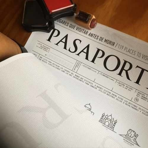 póster pasaporte sella donde estuviste o vas a estar regalo