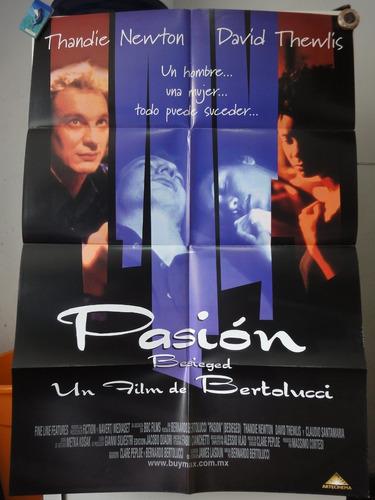poster pasion besieged thandie newton bernardo bertolucci 98