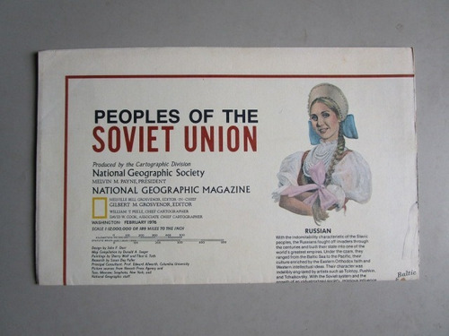 poster peoples of the soviet union - national geographic soc