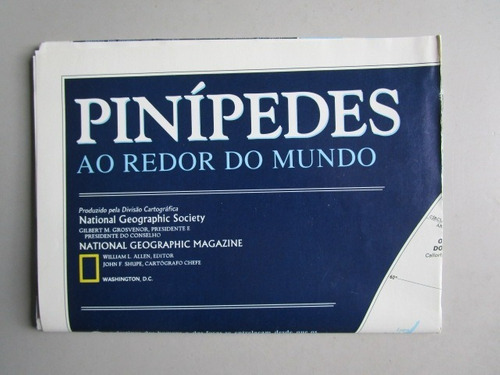 poster pinípedes ao redor do mundo - national geographic soc