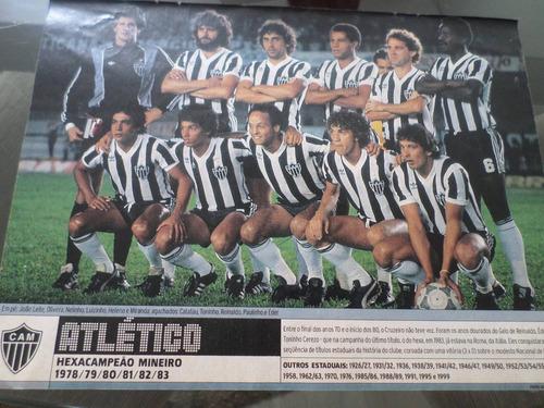 poster placar atlético hexa campeão mineiro 1983 21x27cm