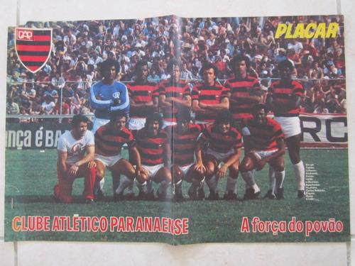 poster placar clube atletico paranaense